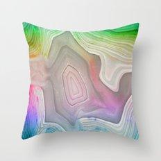 MINERAL RAINBOW Throw Pillow