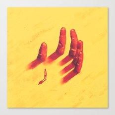long fingers Canvas Print