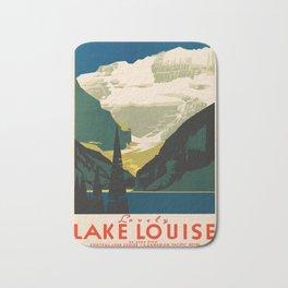 Lovely Lake Louise vintage travel ad Bath Mat