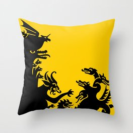 The Demons of My Head Throw Pillow