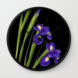 Spring Iris Wall Clock