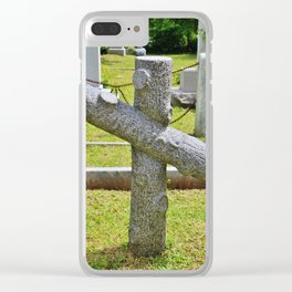 Cross Of Nance Clear iPhone Case