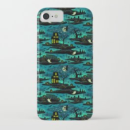 Halloween Night - Fox Fire Green iPhone Case