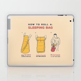 How to roll a sleeping bag Laptop & iPad Skin