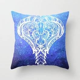 Heavenly Cobra // Blue Space Throw Pillow