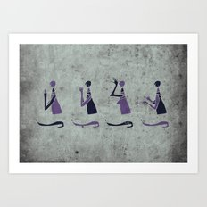 Forms of Prayer - White Art Print