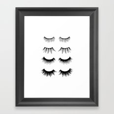 Beauty Lashes Framed Art Print
