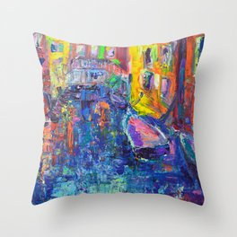 City of Canals - Modern Urban Cityscape of Venice by Adriana Dziuba Throw Pillow