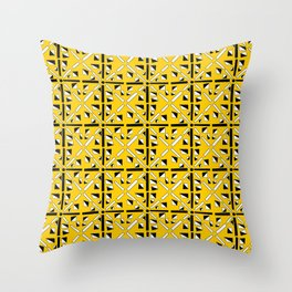 symetric patterns 89-mandala,geometric,rosace,harmony,star,symmetry Throw Pillow