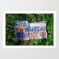 philosophy Art Prints featuring Discarded Philosophy  by Gary Lee Hutchings
