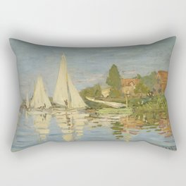 "Claude Monet ""Regattas at Argenteuil"" Rectangular Pillow"
