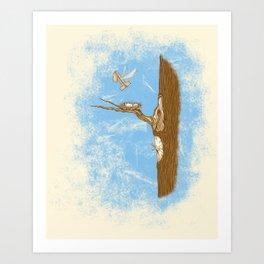 1 Flew Over the Cuckoo's Nest Art Print