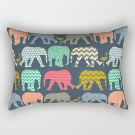 baby elephants and flamingos Rectangular Pillow