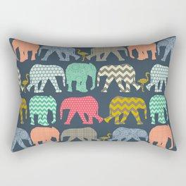 baby elephants and flamingos Rectangular Pillow