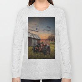 Abandoned Farmall Tractor and Barn Long Sleeve T-shirt