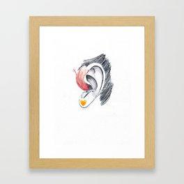 Hear Shit  Framed Art Print