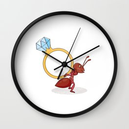 ant with big ring Wall Clock