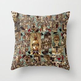 Requiem Playing Cards - Jokers and Courts Throw Pillow
