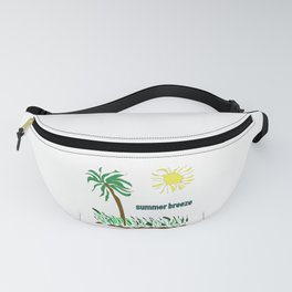 summer breeze minimal sketch Fanny Pack