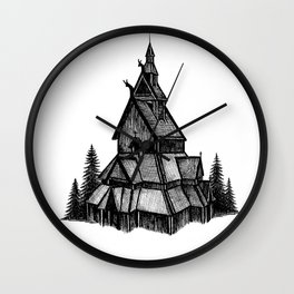 Borgund Stave Church Wall Clock