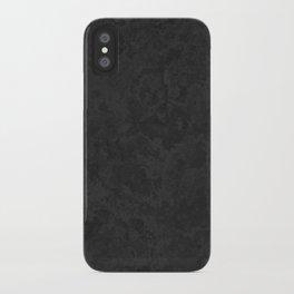 Marble Granite - Classic Sleek Slate Charcoal Black iPhone Case