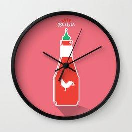 In My Fridge - Sriracha Sauce Wall Clock