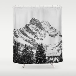 black and white like forest and snow Shower Curtain