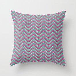 Hot Pink & Mint Throw Pillow