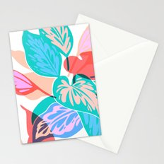 Colorful Pothos Plant Stationery Cards