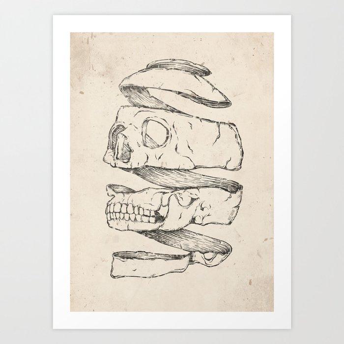Twister Skull Art Print