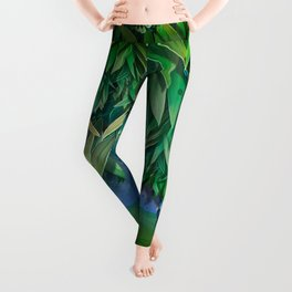 """Spring Forest of Surreal Leaf litter and flowers"" Leggings"