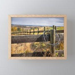 Fence Framed Mini Art Print