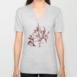 Seaweed Pattern Unisex V-Neck
