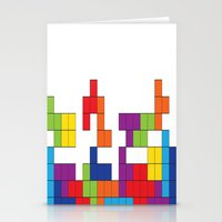 tetris Stationery Cards featuring Tetris by Jennifer Agu