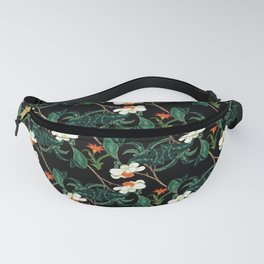 Moody retro floral pattern Fanny Pack