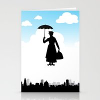 mary poppins Stationery Cards featuring mary poppins by notbook