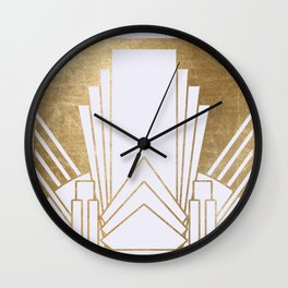 Art Deco design - blonde Wall Clock
