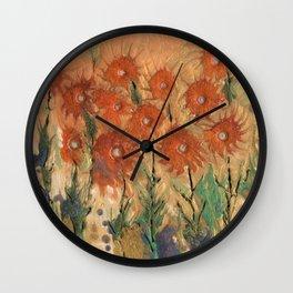 Sunny meadow Wall Clock