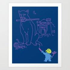 The Purple Crayon of Keldor Art Print