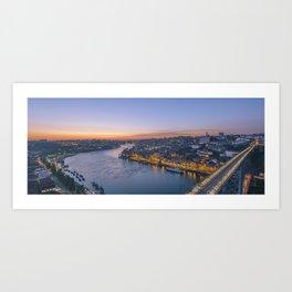 The view from Serra do Pilar - Porto and Gaia Art Print