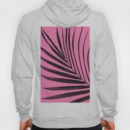 Simple palm leaves with pink Hoody