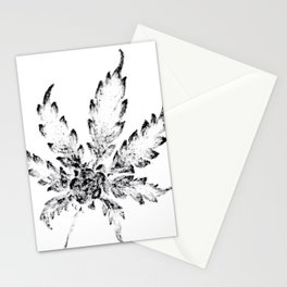 Black & White (Cannabis Resin Leaf) Stationery Cards