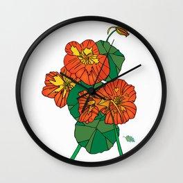 Nasturtium - by H.H.Lyman(Skip) Wall Clock