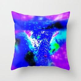 Blue Barque Mad Throw Pillow