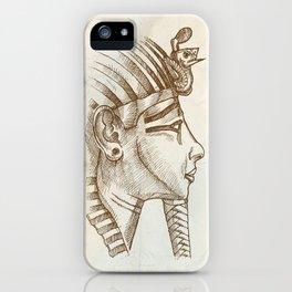 gold tutankhamon mask hand drawn iPhone Case