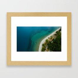 Lake Hawea lake wakatipo blue crystal clear Framed Art Print