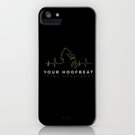 Horse Hoofbeat Heartbeat Gift iPhone Case