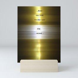 Risen (No.6 Textile Series) with Text Mini Art Print