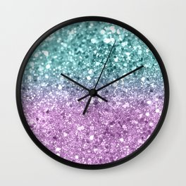 Mermaid Girls Glitter #6 #shiny #decor #art #society6 Wall Clock