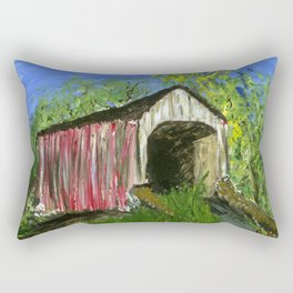 Erwinna Covered Bridge  Rectangular Pillow